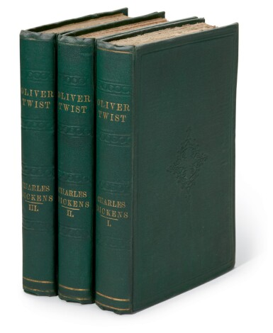"""View 1. Thumbnail of Lot 49. Dickens, Oliver Twist, 1841, """"third edition"""", publisher's cloth."""