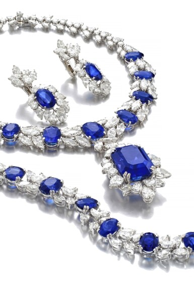 View 2. Thumbnail of Lot 168. Jahan   Important sapphire and diamond parure   Jahan   藍寶石配鑽石首飾套裝.