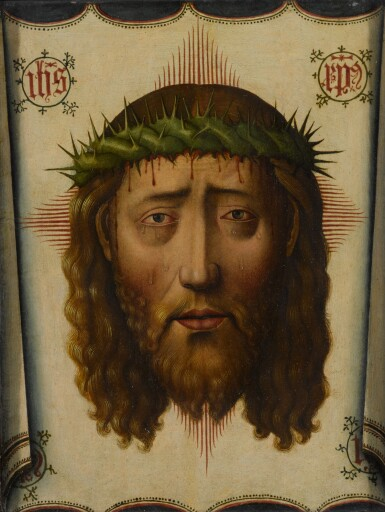 View 1. Thumbnail of Lot 4. MANNER OF PEDRO DE CÓRDOBA | THE VEIL OF VERONICA: THE HEAD OF CHRIST.