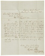 Lee, Robert E. Letter signed to Lieutenant Colonel R.E. Russy, 15 March 1845