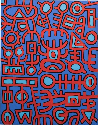 View 1. Thumbnail of Lot 2. MOHAMED AHMED IBRAHIM | UNTITLED (RED AND BLUE).
