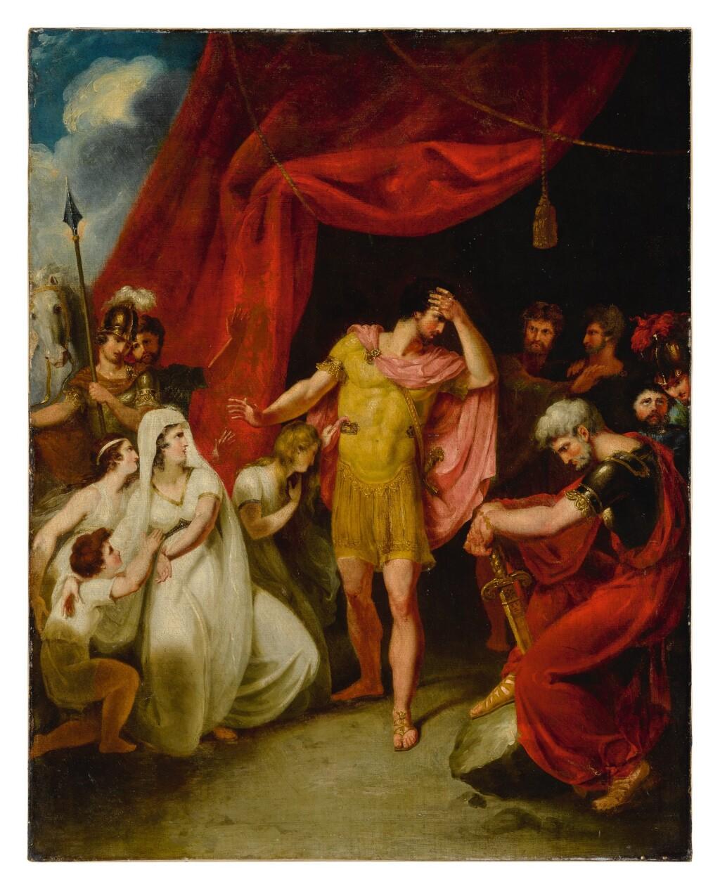 ATTRIBUTED TO WILLIAM HAMILTON, R.A.   CORIOLANUS ACT V, SCENE III