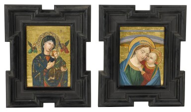 A PAIR OF ITALIAN GOLD GROUND MOSAIC AND MICRO-MOSAIC PANELS, ROME, LATE 19TH CENTURY, ATTRIBUTED TO THE STUDIO DEL MOSAICO VATICANO