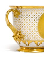 A TWO-HANDED PORCELAIN CUP, PROBABLY IMPERIAL PORCELAIN FACTORY, ST PETERSBURG, CIRCA 1820