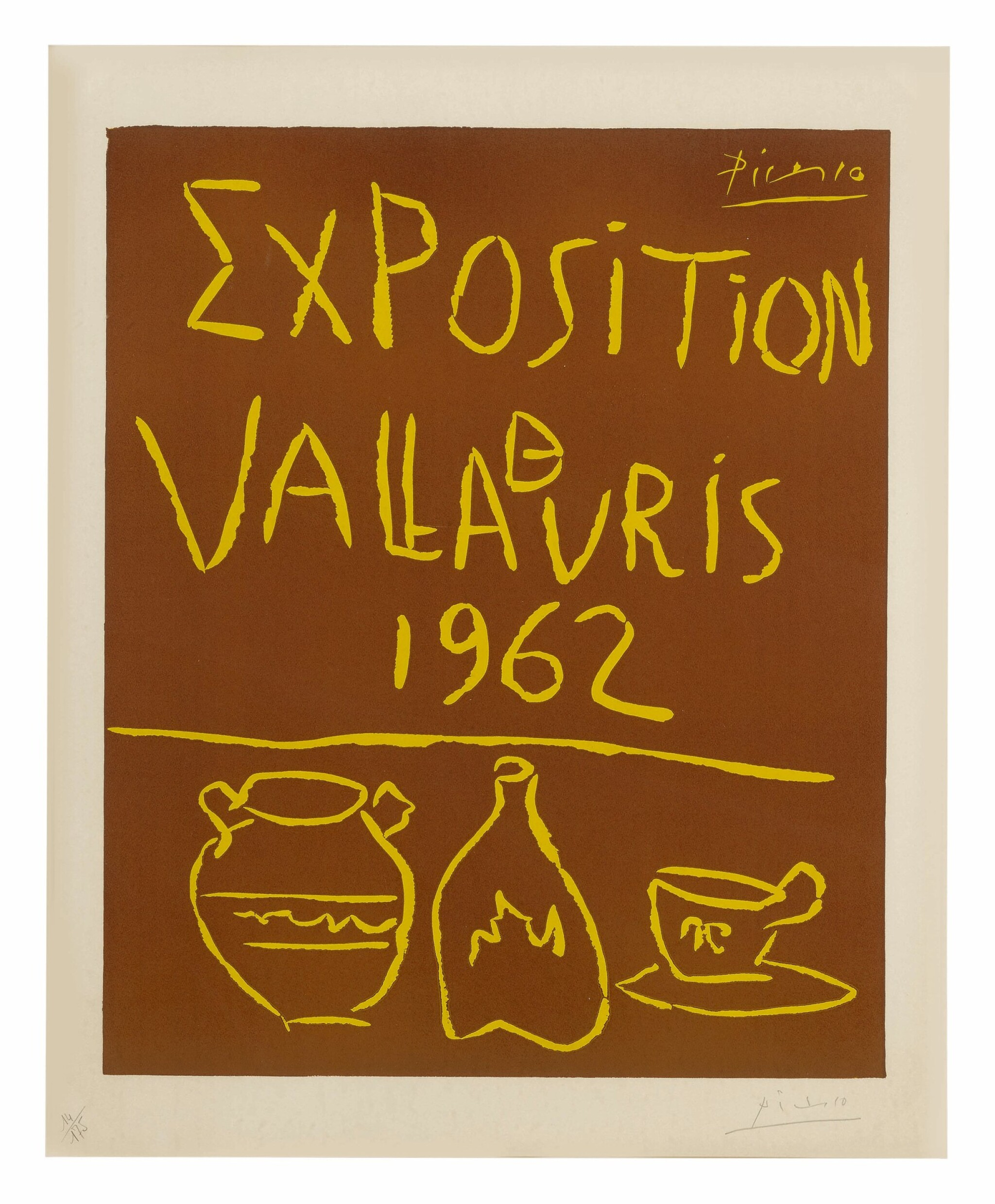 View full screen - View 1 of Lot 5. PABLO PICASSO | EXPOSITION DE VALLAURIS 1962 (B. 1299; BA. 1335).