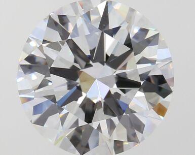 A 3.68 Carat Round Diamond, F Color, VVS1 Clarity 3.68 卡拉圓形鑽石,F色,VVS1 淨度