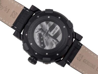 ROMAIN JEROME | LIBERTY-DNA, REF RJTAULI00101 LIMITED EDITION PVD-COATED STAINLESS STEEL WRISTWATCH CIRCA 2012