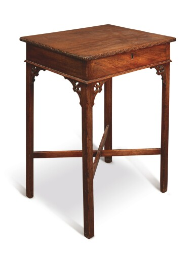 View 3. Thumbnail of Lot 501. A GEORGE III MAHOGANY SIDE TABLE, THIRD QUARTER 18TH CENTURY.