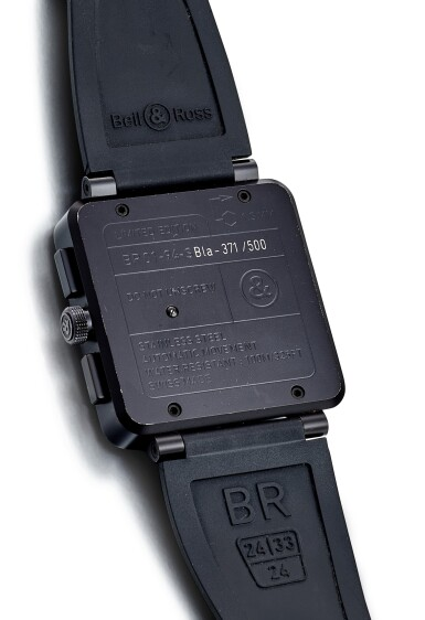 View 3. Thumbnail of Lot 8258. BELL & ROSS | BR 01, REFERENCE BR01-94-S, A LIMITED EDITION BLACKENED STAINLESS STEEL CHRONOGRAPH WRISTWATCH, CIRCA 2015.