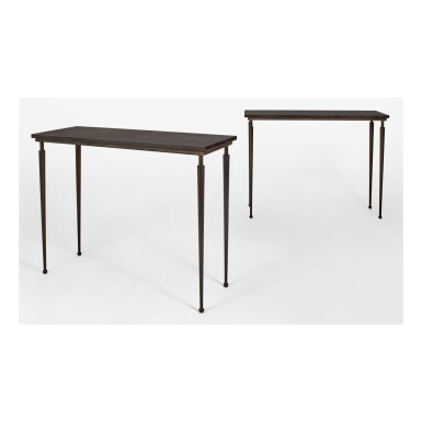 PAIR OF CONSOLE TABLES