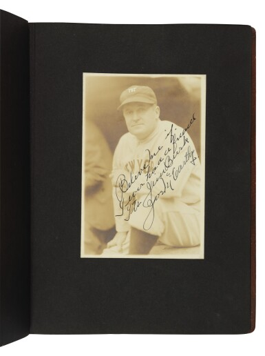 View 3. Thumbnail of Lot 145. The New York Yankees | Photo album of the 1931 New York Yankees, signed by 19 members of the team, including 10 future Hall of Famers, made for Yankees coach Jimmy Burke.