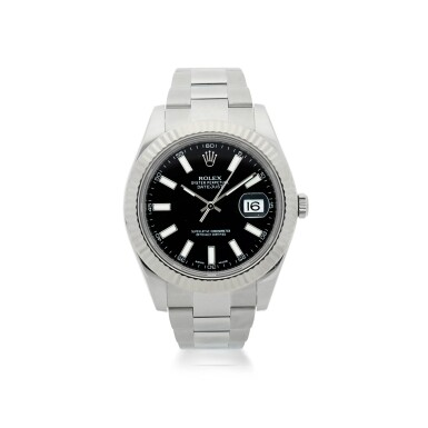 ROLEX | REFERENCE 116334 DATEJUST  A STAINLESS STEEL AUTOMATIC WRISTWATCH WITH DATE AND BRACELET, CIRCA 2013