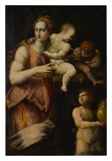 View 1. Thumbnail of Lot 512. FLORENTINE SCHOOL, MID 16TH CENTURY | ALLEGORY OF CHARITY.