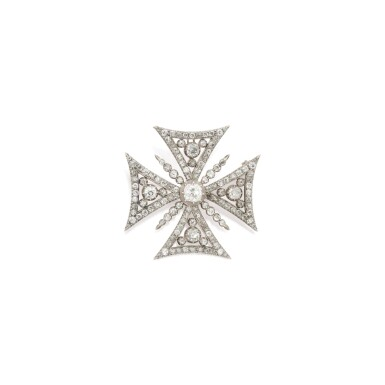 SILVER-TOPPED GOLD AND DIAMOND PENDANT-BROOCH