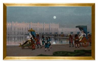 View 2. Thumbnail of Lot 217. Promenade de la Cour dans les jardins de Versailles.