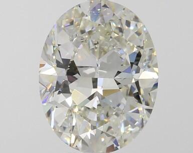 A 3.29 Carat Oval-Shaped Diamond, K Color, Internally Flawless