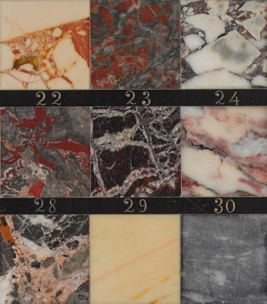 View 6. Thumbnail of Lot 96. A FRENCH MARBLE SAMPLE BOARD BY GUSTAVE ESCALLE & CIE, LATE 19TH CENTURY.