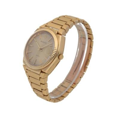 View 2. Thumbnail of Lot 428. 'The Texan' Quartz, Ref. 5100 BETA 21 Yellow gold wristwatch with date and bracelet Circa 1970   勞力士 5100 BETA 21型號「'The Texan' Quartz」黃金鍊帶腕錶備日期顯示,年份約1970.