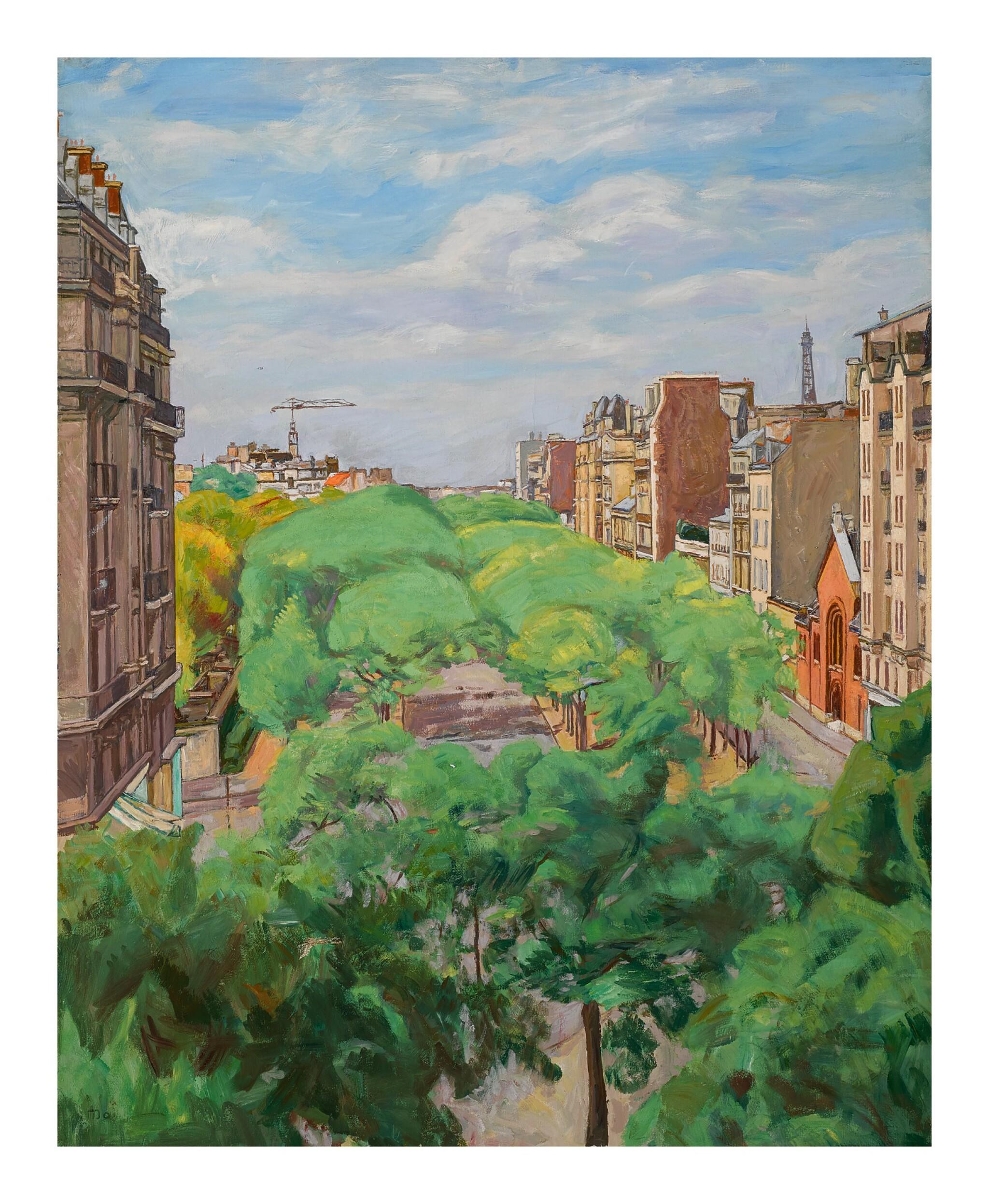 View full screen - View 1 of Lot 35. SIMON MONDZAIN   BOULEVARD EDGAR QUINET, PARIS (XIVE).