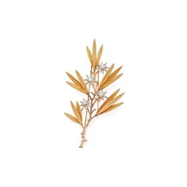 GOLD AND DIAMOND CLIP-BROOCH, BUCCELLATI