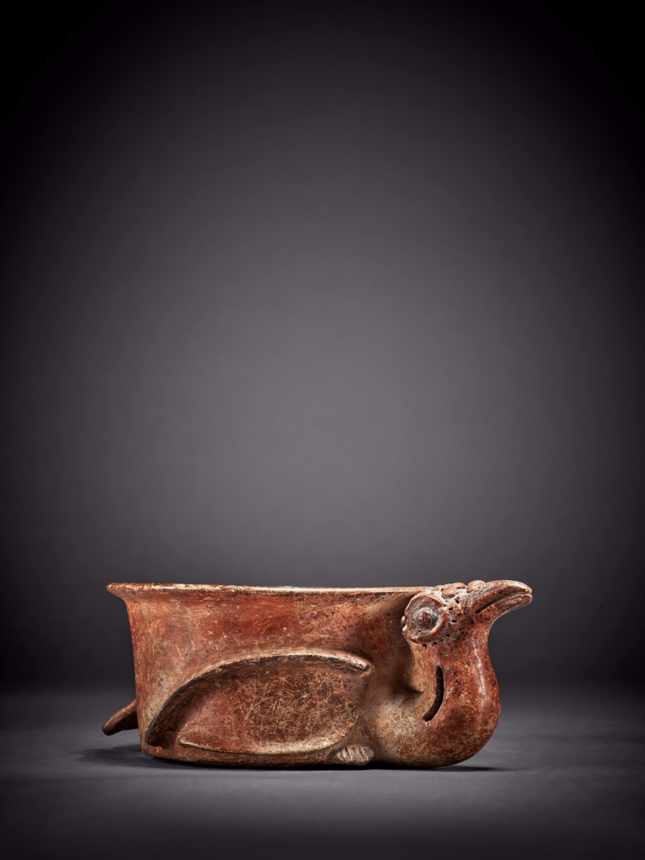 View full screen - View 1 of Lot 100. Maya Bird Effigy Vessel Early Classic, circa AD 250 - 450.