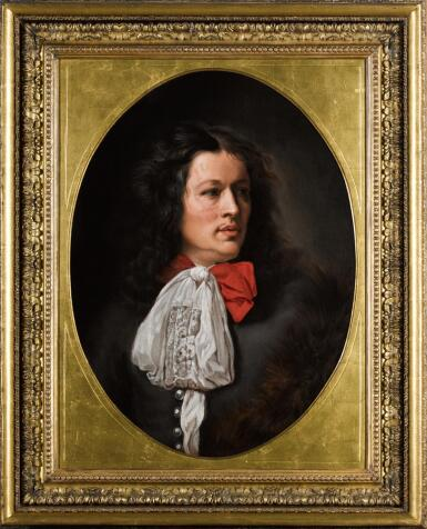 View 2. Thumbnail of Lot 7. FOLLOWER OF CAREL WAUTIER | A portrait of a gentleman, bust-length, with a white cravat.