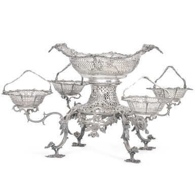 View 2. Thumbnail of Lot 85. A George III silver epergne, Thomas Pitts, London, 1763.