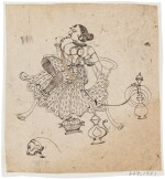 THREE DRAWINGS, NORTH INDIA, LATE 17TH-19TH CENTURY
