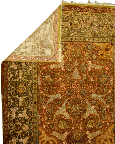 View 2. Thumbnail of Lot 139. A Kum Kapi silk niche rug with silk and metal thread brocading, Istanbul, Turkey, attributed to Zareh Penyamin, circa 1900.