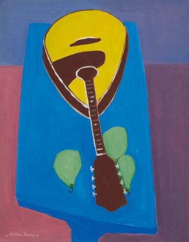 View 1. Thumbnail of Lot 14. MILTON AVERY   MANDOLIN WITH PEARS.