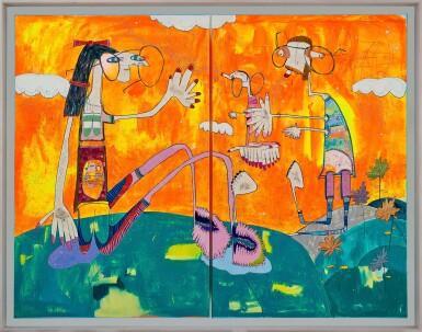 View 2. Thumbnail of Lot 1103. Rafa Macarrón 拉法・馬卡龍 | Rutina Fluor (diptych) 氟日常(雙聯作).