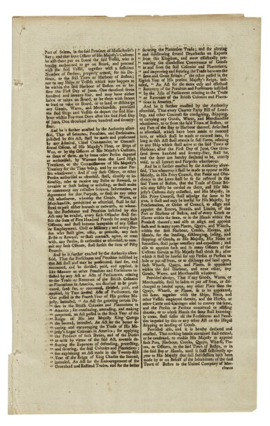 """View 2. Thumbnail of Lot 24. THE BOSTON PORT BILL 