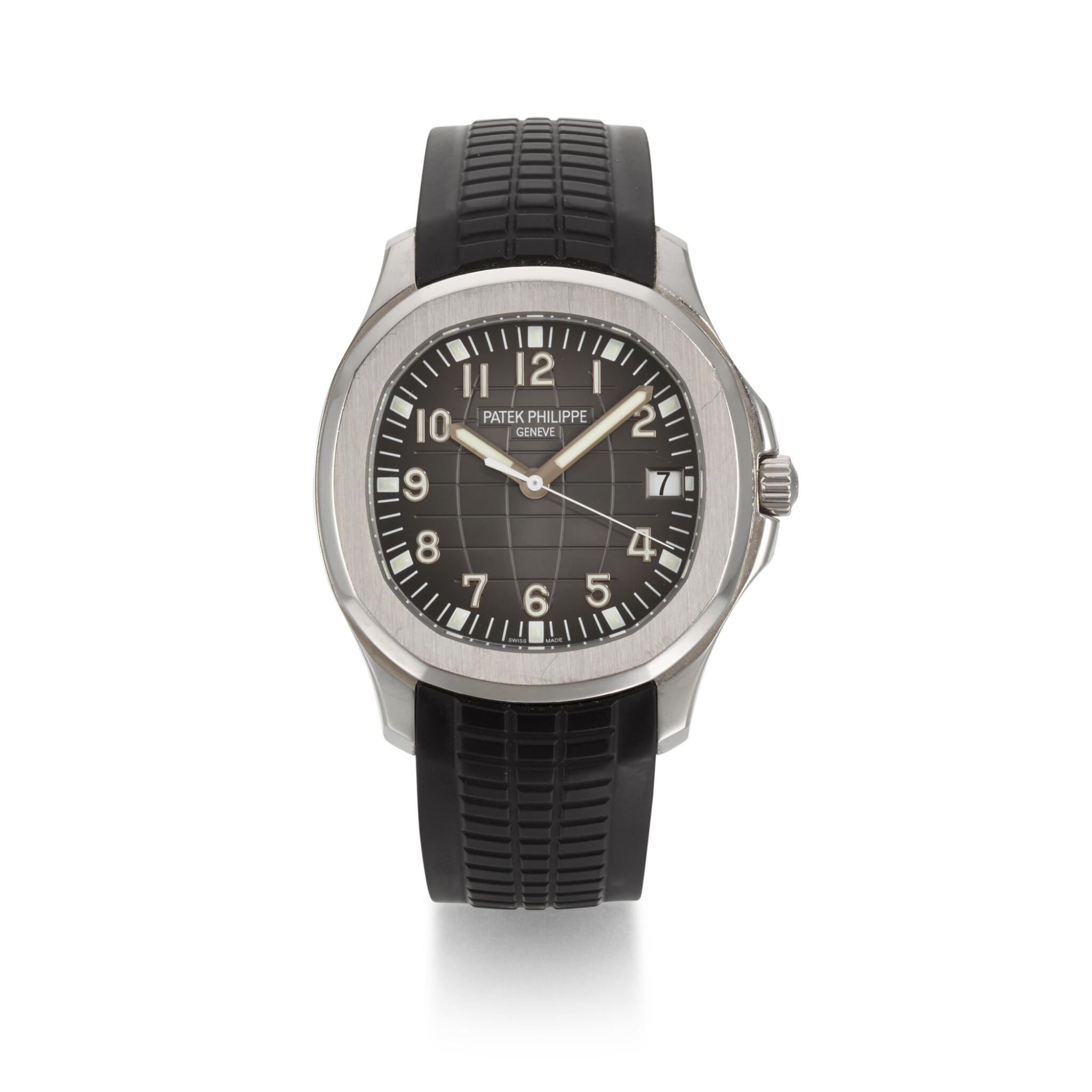 View full screen - View 1 of Lot 349. PATEK PHILIPPE   AQUANAUT REFERENCE 5167A-001, STAINLESS STEEL AUTOMATIC WRISTWATCH WITH DATE, CIRCA 2010.