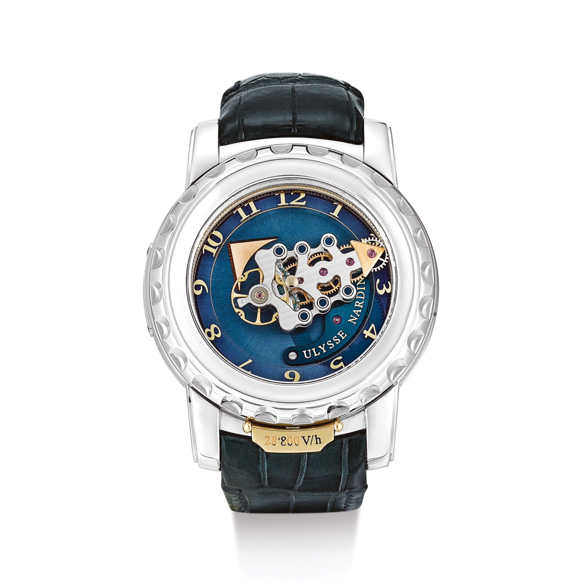 View full screen - View 1 of Lot 2014. ULYSSE NARDIN  |  FREAK, REFERENCE 020-88  A WHITE GOLD CARROUSEL TOURBILLON WRISTWATCH WITH DUAL DIRECT ESCAPEMENT, CIRCA 2007 | 雅典 | .
