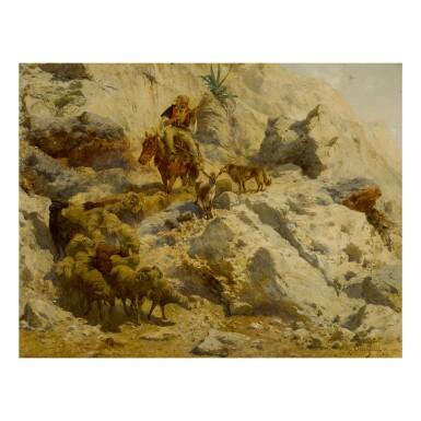 RUDOLF OTTO VON OTTENFELD   SHEPHERD IN THE HILLS OF MONTENEGRO
