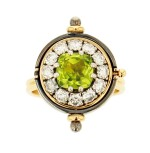 Elie Top, Peridot and Diamond Ring [Bague Péridot et Diamants], 'Sirius'
