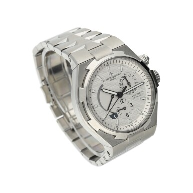 REFERENCE 47450 OVERSEAS A STAINLESS STEEL AUTOMATIC DUAL TIME WRISTWATCH WITH DATE, POWER RESERVE, DAY & NIGHT INDICATION AND BRACELET, CIRCA 2014
