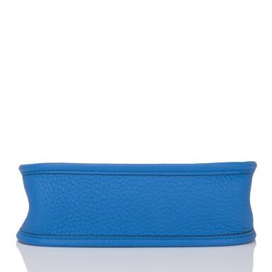 View 5. Thumbnail of Lot 17. Hermès Bleu Zanizbar Evelyne TPM of Clemence Leather with Palladium Hardware.