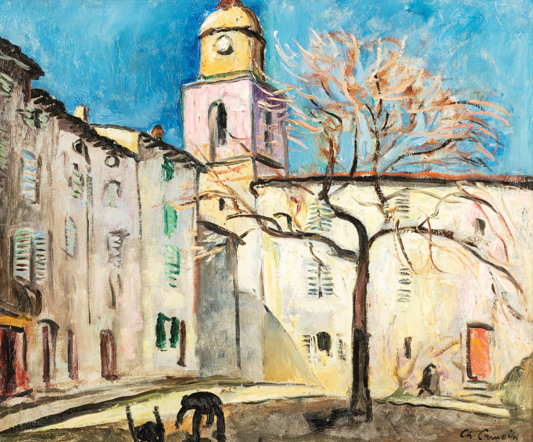 View full screen - View 1 of Lot 25. CHARLES CAMOIN | PLACE DE L'ORMEAU, SAINT-TROPEZ     .