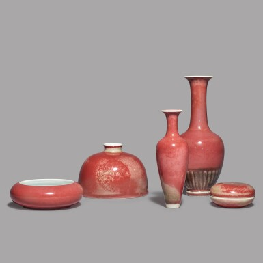 View 4. Thumbnail of Lot 115. A PEACHBLOOM-GLAZED 'BEEHIVE' WATERPOT,  KANGXI MARK AND PERIOD.