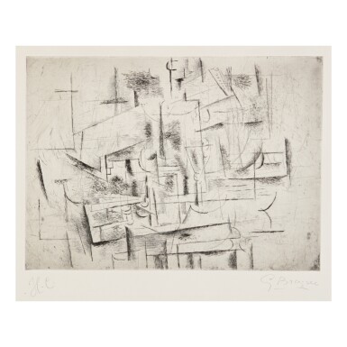 View 1. Thumbnail of Lot 82. GEORGES BRAQUE   NATURE MORTE II (V. 10).