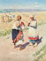 SERGEI ARSENIEVICH VINOGRADOV | TWO PEASANT WOMEN