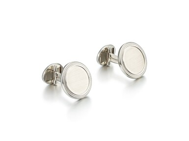 View 2. Thumbnail of Lot 8003. PATEK PHILIPPE | A PAIR OF WHITE GOLD CUFFLINKS, CIRCA 2000.