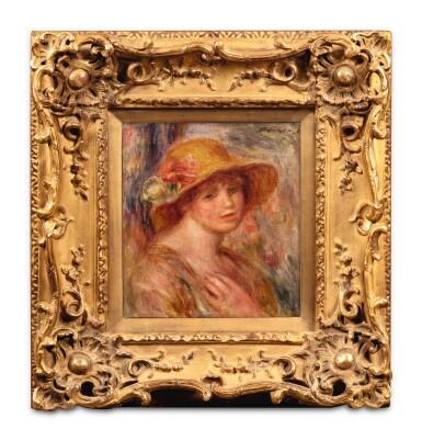 View 2. Thumbnail of Lot 40. Femme au chapeau de paille.