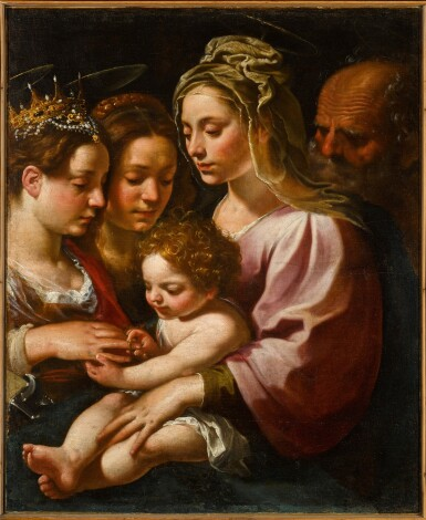 View 2. Thumbnail of Lot 118. The Mystic Marriage of Saint Catherine.