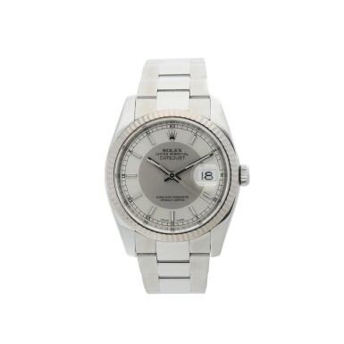 ROLEX | REFERENCE 116234 DATEJUST  A STAINLESS STEEL AUTOMATIC WRISTWATCH WITH DATE AND BRACELET, CIRCA 2015