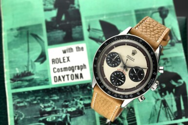 View 1. Thumbnail of Lot 14. Reference 6241 'Paul Newman' Daytona A stainless steel chronograph wristwatch, Circa 1968.