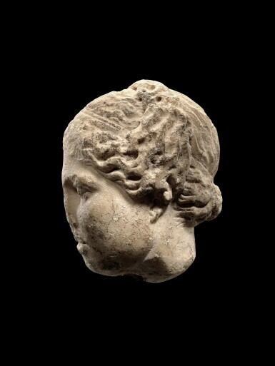 View 3. Thumbnail of Lot 31. A Roman Marble Head of Aphrodite, circa 2nd Century A.D..