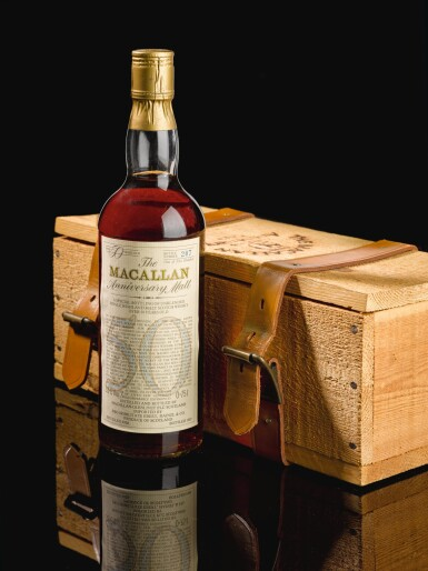 View 4. Thumbnail of Lot 176.  THE MACALLAN 50 YEAR OLD ANNIVERSARY MALT 38.6 ABV 1928.