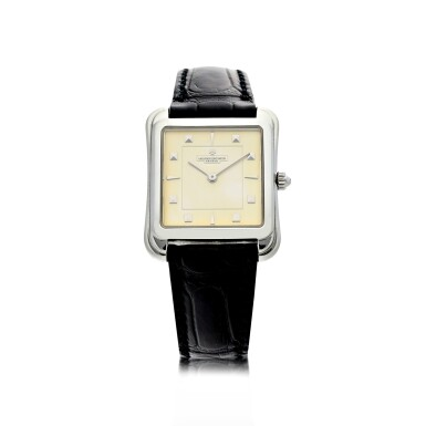 View 1. Thumbnail of Lot 53. REFERENCE 31100 TOLEDO A PLATINUM SQUARE SHAPED WRISTWATCH, CIRCA 1993.